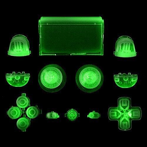 Dark Full Buttons Set Trigger Dpad Thumbsticks For PS4 Playstation 4 Controller by YTTL ()