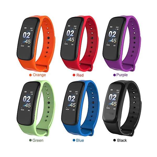 Explopur Smart Bracelet Women Men - IP67 Fitness Tracker Watch-Heart Rate Presión sanguínea Oxígeno sanguíneo Contador… 2