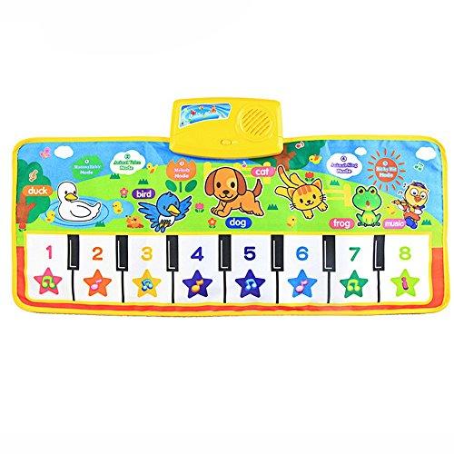 Gusspower Musical Musik Matte, Baby Frühe Erziehung Musik Klavier Keyboard Teppich Tier Decke Touch Spiel Sicherheit Lernen Singen lustig Spielzeug für die besten Kinder Baby Geschenk -