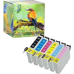 Pack de 6 Cartouches d'encre Epson Stylus Photo 79 1400 1410 1500W P50 PX650 PX660 PX700W PX710W PX720WD PX730WD PX800 PX800FW PX810FW PX820FWD PX830FWD T0791 T0792 T0793 T0794 T0795 T0796 (Ink Hero)