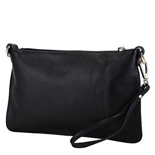 Frauen Einfache Handtasche Lässig Tasche Handtasche Leder Messenger Tasche Black
