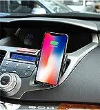 QHJ Auto Ladegerät, Elektronisch Auto Handyhalterung,Fast Charging für Für iPhone XS, XS MAX, XR/Samsung Galaxy S9, S9 + Und (Schwarz)