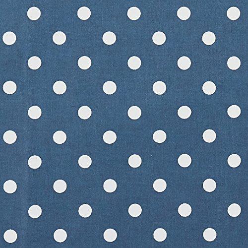 Vinylla, nappe cirée en coton avec revêtement en vinyle, facile à nettoyer, motif à pois bleu marine, Vinyle Coton, bleu, 140 x 140 cm
