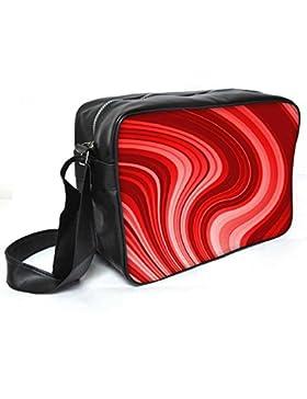 Snoogg Flow Design 2369Leder Unisex Messenger Bag für College Schule täglichen Gebrauch Tasche Material PU