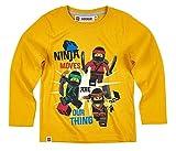 Lego Ninjago Kollektion 2017 Langarmshirt 98 104 110 116 122 128 134 140 Shirt Jungen Neu Top Grau (110 - 116; Prime, Gelb)