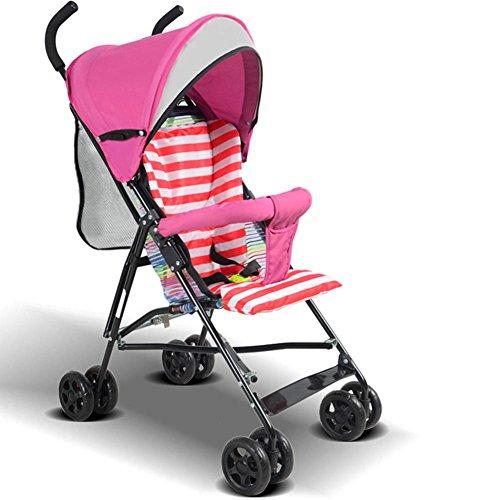Baby Sommer Kinderwagen leichtes Portable Kinderwagen faltbar vier Rädern Kinderwagen für 0-36 Monate , pink