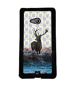 PrintVisa Metal Printed Deer Designer Back Case Cover for Microsoft Lumia 540 Dual Sim-D5090