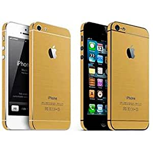 Gold sticker with screen protector for Apple Iphone 4,4S,4G