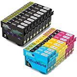 OfficeWorld 16XL Compatibili Cartucce Epson 16 XL (9 Nero,3 Ciano,3 Magenta,3 Giallo) per Epson Workforce WF-2630 WF-2760 WF-2510 WF-2530 WF-2520 WF-2540 WF-2750 WF-2660 WF-2650 WF-2010