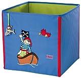 sigikid, Mädchen und Jungen, Aufbewahrungsbox mit Piraten-Motiv, Sammy Samoa, Blau, 23470