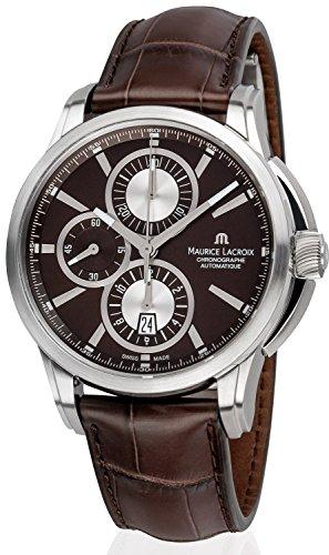Maurice Lacroix Herren-Armbanduhr Pontos Chronograph Datum Analog Automatik PT6188-SS001-730