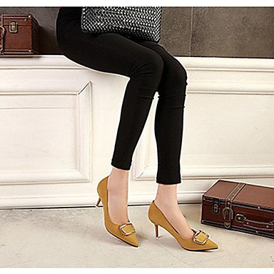 Moda Donna Sandali Sexy donna caduta tacchi Comfort Felpa casual Stiletto Heel altri nero / giallo / il verde / rosa / grigio altri Pink