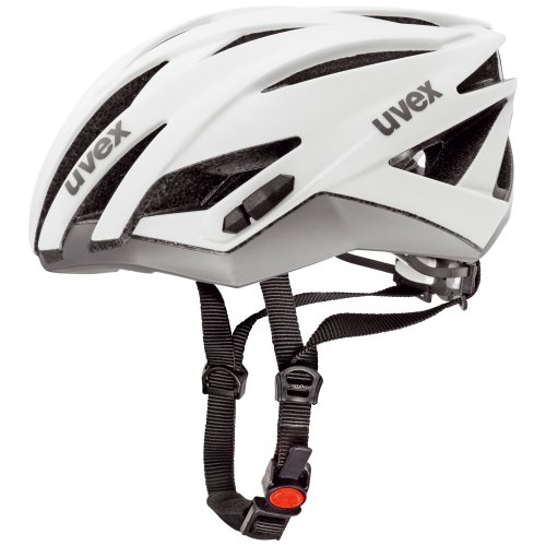 Uvex Ultrasonic Race - Casco ciclismo, color blanco / plata, talla 52-56