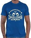 HARIZ  Herren T-Shirt Zum Darten Geboren Dart Darten Dartscheibe Sport Fun Trikot Plus Geschenkkarten Royal Blau S