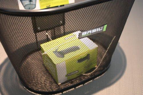 Basil VR-Korb Brava II Stahl engmaschig, oval, Soft-Grip Titanium