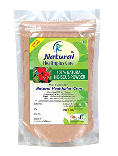 Natural Healthplus Care 100% Natural Hibiscus Flower (ROSA SINENSIS) Powder for BOUNCY HAIRS NATURALLY (227 g)