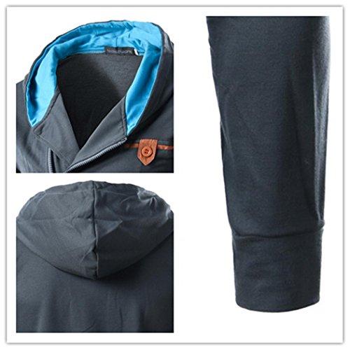VENI MASEE Herren Fashion Style Hoodies Taschen Pullover Outdoor Hooded Pullover(M-XXL) Hellgrau