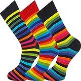 MySocks Knöchelsocken Regenbogen 3 Paare