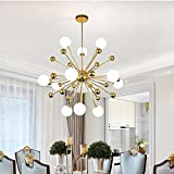 MXK-Lampe 12-Licht Sputnik Deckenleuchte Kronleuchter Beleuchtung, Moderner Kreativer Luxus - LED-Beleuchtung Restaurant/Hotel / Villa [Energieklasse A +]