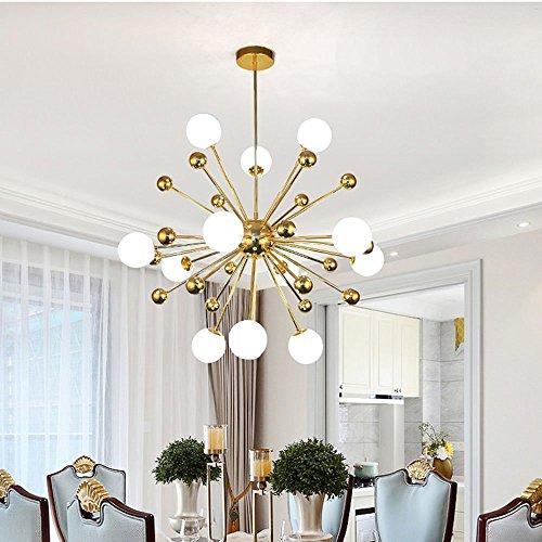 MXK-Lampe 12-Licht Sputnik Deckenleuchte Kronleuchter Beleuchtung, Moderner Kreativer Luxus - LED-Beleuchtung Restaurant/Hotel / Villa [Energieklasse A +] -