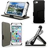 igadgitz Premium Folio Noir Cuir PU Etui Housse Case Cover pour Apple iPhone 7 & 8...