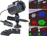 Lunartec Projektionslampe: RGBW-LED-Projektor mit 5 Motiven für innen & außen, 4,6 Watt, IP44 (Lichtprojektor)
