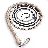 Ardour Crafts BullWHIP Indiana Jones Peitsche, 1,8 m, 12 Zöpfe, Känguruhleder, Leder, Custom