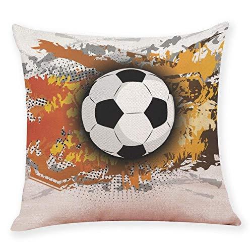 LXHDKDT Kissenbezug 45 * 45 cm Wohnkultur Kissenbezug Fußball Fußball Dekokissenbezug Kissenbezüge China F -