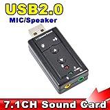 ACUTAS USB AUDIO SOUND CARD ADAPTER 7.1 ch USB 2.0 Mic Speaker Audio 3.5mm Jack Convert