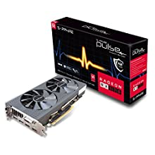 SAPPHIRE Pulse Radeon RX 570 4G GDDR5 Dual HDMI/DVI-D/Dual DP Graphics Card - Black