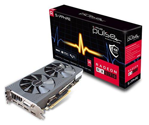 Sapphire Pulse Radeon RX 570 4GB DDR5 Dual Fan PCI-Express Card (1284 MHz Boost Clock, 2048 GCN Stream Processors) OverClock Edition