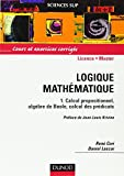 Logique mathématique, tome 1 : Calcul propositionnel, algèbre de Boole, calcul des prédicats