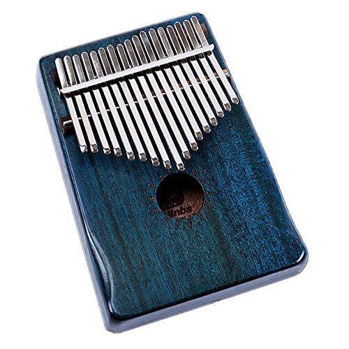 Walter.D legno di mogano tono Kalimba, Professional 17tasti acustico finger piano Music Gift (oceano blu)