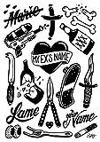 TATATAT das Streetart Label aus Berlin Temporäre Tattoos #010 RYLSEE Tätowierungsaufkleber Tattoo Tat Damen Herren Körperkunst Aufkleber (Gold)