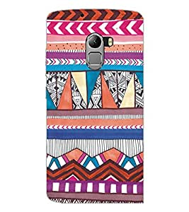 PrintDhaba Tribal Pattern D-5437 Back Case Cover for LENOVO K4 NOTE A7010 (Multi-Coloured)