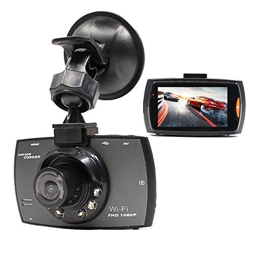 2.7inch LCD 1080P Mini Wifi WLAN Auto Kamera Car Camera Dashcam 170° Weitwinkel Auto DVR Dash Cam Dashboard Camcorder Black Box mit G-sensor Nachtsicht für IOS und Android