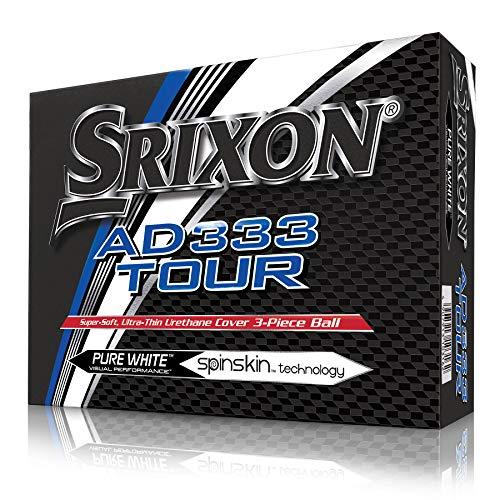 Srixon AD 333 Tour- Bolas de Golf, blanco, 4 paquetes de 3 bolas (total 12 bolas)