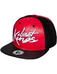 Last Kings Homme Casquettes / Snapback Tag Faux Leather noir Réglable