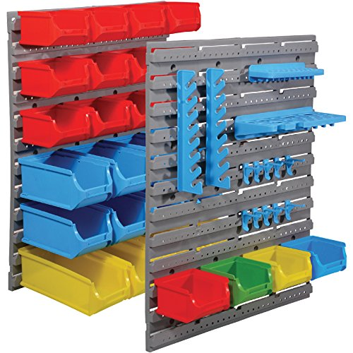 51DGVDbe8zL - BEST BUY# Marko Storage Solutions Tool Organiser Bin Plastic Kit Storage Wall Unit Parts Bins Shelving Garage DIY (44PC Organiser Bin Set) Reviews