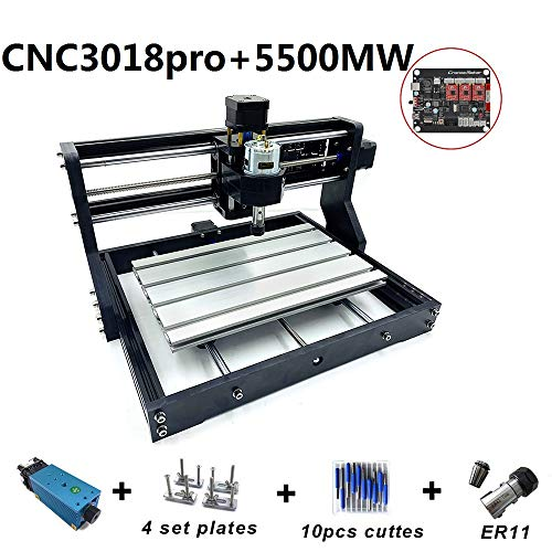 DIY CNC Router Engraving Machine, Working Area: 300 * 180 * 45mm, 3 Axis  Mini Wood PCB PVC Milling Machine Metal Wood Engraving Carving Machine With