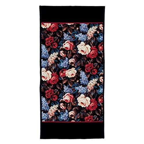 FEILER Handtuch CORNWALL 50x100cm l Blüten-Mix l schwarz bordeaux