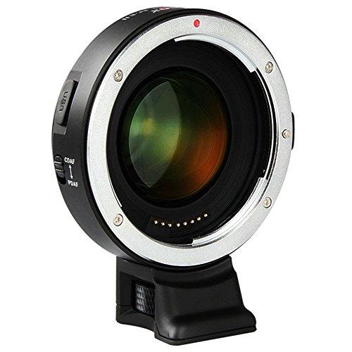 VILTROX EF-E II Verstärker Objektiv Adapter konverter für Canon EF-Objektiv auf Sony A7 A9 A7R A7S A6300 A6500, Unterstützung CDAF PDAF Fokus/Autofokus/Vergrößern der Blende (Objektiv Verstärker)