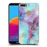 Head Case Designs Farben Marmor Glitzer Druecke Ruckseite Hülle für Huawei Honor 7C / Enjoy 8