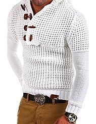Tazzio - 14-413 - Pull-over en tricot à col brandebourg
