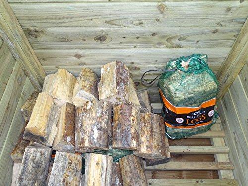 Arbor Garden Solutions Wooden Log Chest Storage (1.14 cubic meters capacity) (W-127cm, H-104cm, D-87cm) (Light Green…