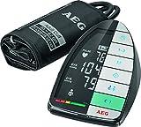 AEG BMG 5677 vollautomatisches Blutdruckmessgerät (Oberarm), Leichte Anwendung, XXL Touch Sensoroberfläche, LCD-Display, 3-Werte-Anzeige, Arrhythmie-Erkennung, 2x60 Speicherplätze, Manschette 30-42 cm