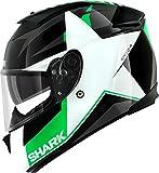 SHARK SPEED-R MXV TEXAS - Integralhelm, Farbe schwarz-weiss-grün, Größe M (57/58)