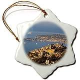 Christmas Gift Provence Eze, St. Jean-Cap Ferrat ?, Provence, France?Eu09Bjn0347Brian Jannsen 7,6cm Funny Flocon de Neige de Noël en Porcelaine Ornement