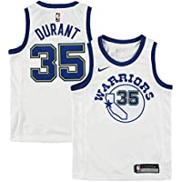 Nike NBA Golden State Warriors Kevin Durant KD35 2017 2018 Harwood Classic Edition HWC Jersey Oficial, Camiseta de Niño