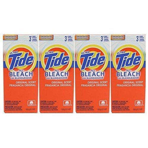 Tide Ultra Plus Bleach Original Scent Powder, 3 Loads, 5.5oz Each- by Tide